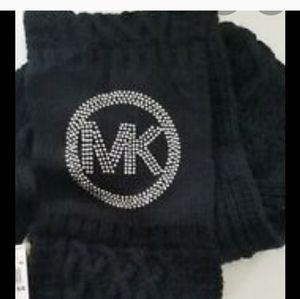 Michael Kors Infinity Scarf Black with Bling